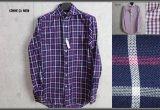 コムサメン春夏カラミ織りチェックドレスシャツ/COMME CA MEN