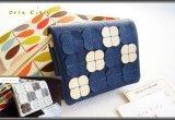 オーラカイリーフラワータイル二つ折り財布