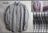 コムサメン ホリゾンタルカラーオーバーチェックシャツ/COMME CA MEN