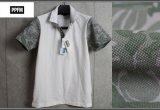 PPFM花柄クールマックス生地半袖ポロシャツ/ペイトンプレイス