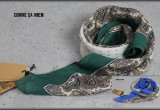 コムサメン日本製花柄シルクリネン混コットンスカーフ/絹/メンズ/COMME CA MEN
