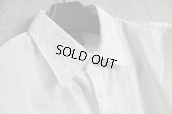画像2: PPFMペイトンプレイス上質インド綿刺繍七分袖シャツ