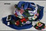 アルチザン刺繍ビーズ ウール シルク ストール/絹/スカーフ/スカーフ/ARTISAN