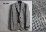 コムサメン『贅沢素材』カシミヤ混ウール ツイード チェルッティ生地フィボナッチ チェック New Classic スーツ/COMME CA MEN