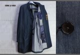 コムサメン 最高級 春夏 高機能素材 和紙(マニラ麻)デニム ステンカラー コート/COMME CA MEN