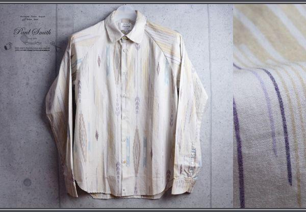 画像1: ポールスミスレッドイヤーREDEARラグランスリーブ柄シャツ