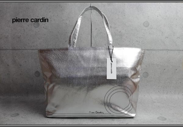 buy popular 9f5ae 390e5 ピエールカルダン(Pierre Cardin)シルバートートバッグ