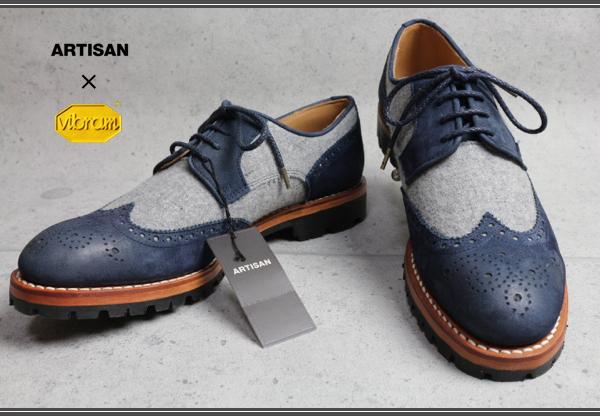 画像2: アルチザン ビブラムソール ブローグ革靴/ARTISAN