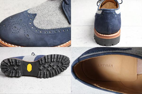 画像5: アルチザン ビブラムソール ブローグ革靴/ARTISAN