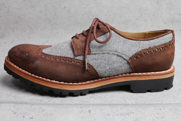 画像3: アルチザン ビブラムソール ブローグ革靴/ARTISAN