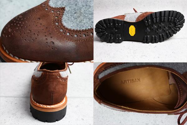 画像4: アルチザン ビブラムソール ブローグ革靴/ARTISAN