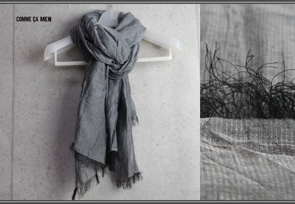 画像2: コムサメン上質綿絹大判ストール/COMME CA MEN