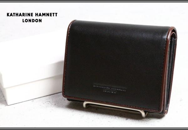 b779fc3c646e 画像1: キャサリン ハムネット ロンドン/栃木レザー二つ折り財布/KATHARINE HAMNETT