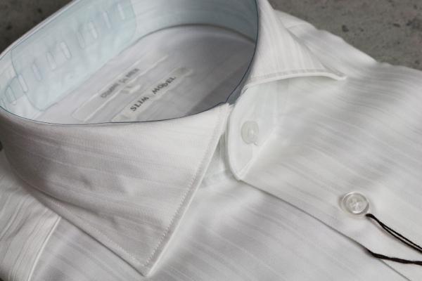 画像2: コムサメン新作ストライプ長袖ドレスシャツ/ワイド/COMME CA MEN