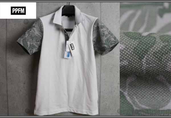 画像1: PPFM花柄クールマックス生地半袖ポロシャツ/ペイトンプレイス