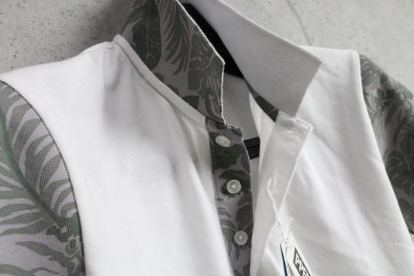 画像2: PPFM花柄クールマックス生地半袖ポロシャツ/ペイトンプレイス