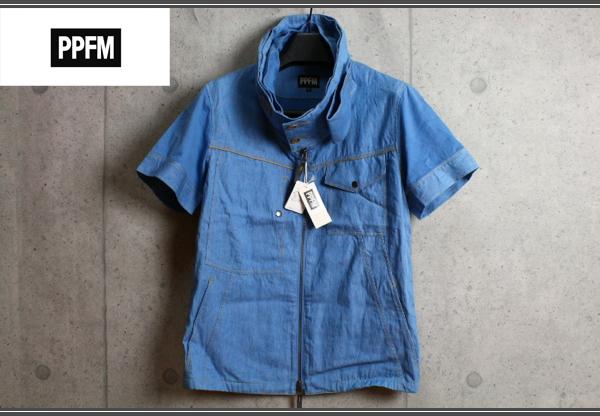 画像1: PPFMレイヤードネックジップ半袖シャツ/ペイトンプレイス