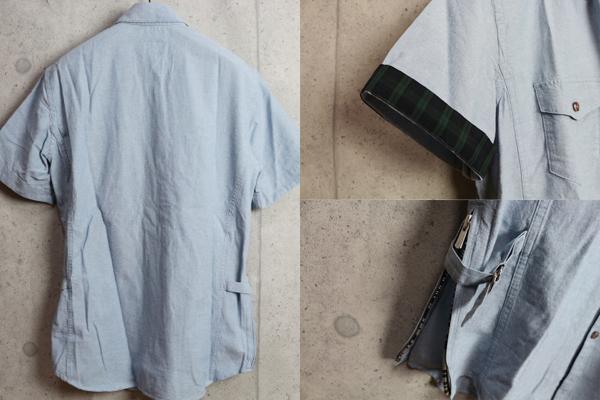 画像3: PPFMシャンブレーコットンデザイン半袖シャツ/ペイトンプレイス