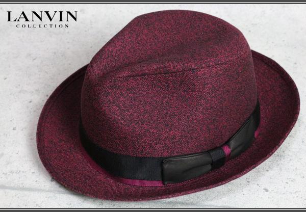 画像1: ランバンコレクション高級ツイード中折れハット/帽子/LANVIN COLLECTION