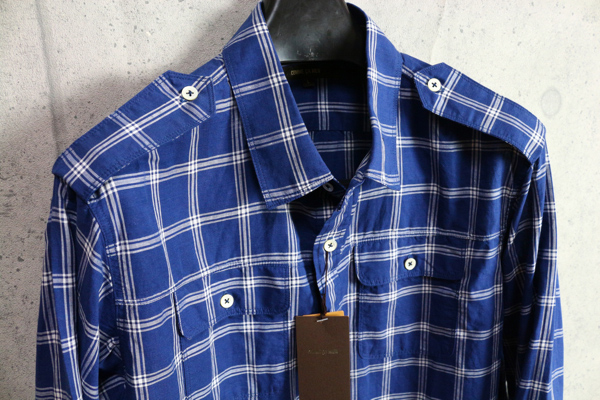 画像2: コムサメン リネンコットンチェック柄シャツジャケット/COMME CA MEN