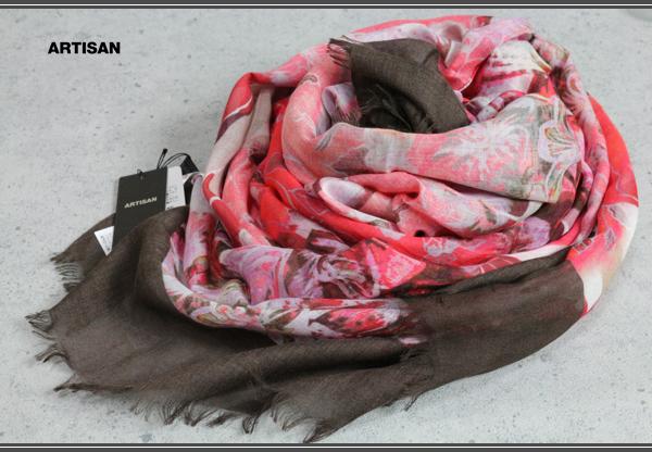 画像1: アルチザン イタリア製シルク混レーヨンストール/ARTISAN