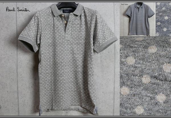 画像1: ポールスミス春夏上質ドット柄半袖ポロシャツ/Paul smith