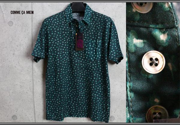 画像1: コムサメン最高級リバティ生地使用リネン コットン ポロシャツ/Liberty/COMME CA MEN