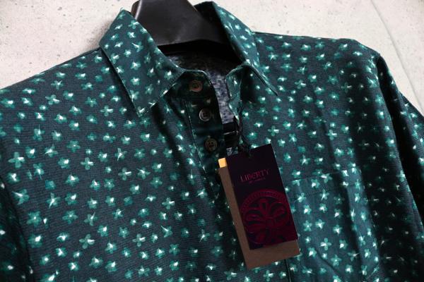 画像2: コムサメン最高級リバティ生地使用リネン コットン ポロシャツ/Liberty/COMME CA MEN