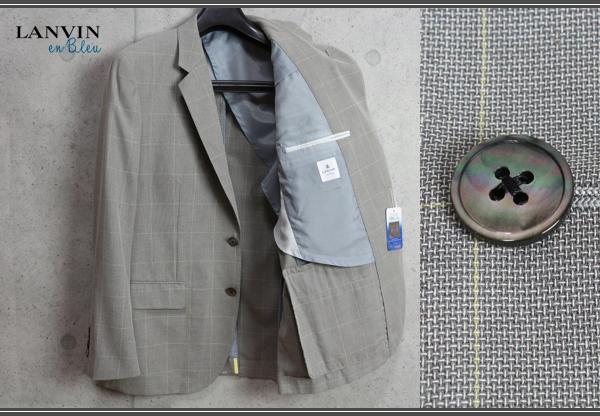 画像1: ランバン オン ブルー春夏 天然高機能素材スポエリー アイスコットン ウインドペン ジャケット/LANVIN en Bleu