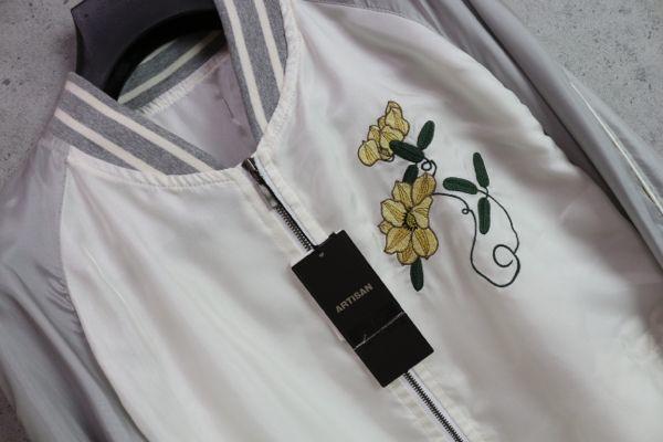 画像3: アルチザン最高級 伊藤若冲 鶏 刺繍 スーベニア キュプラ ブルゾン/スカジャン/ARTISAN