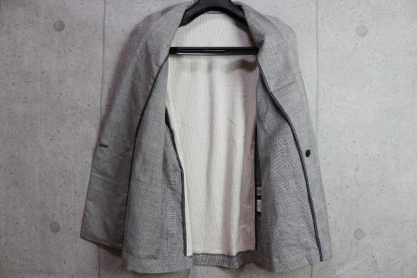 画像3: ベータ・メン/β MEN 春夏 リネンコットン グレンチェック ダブル ジャケット/綿/麻