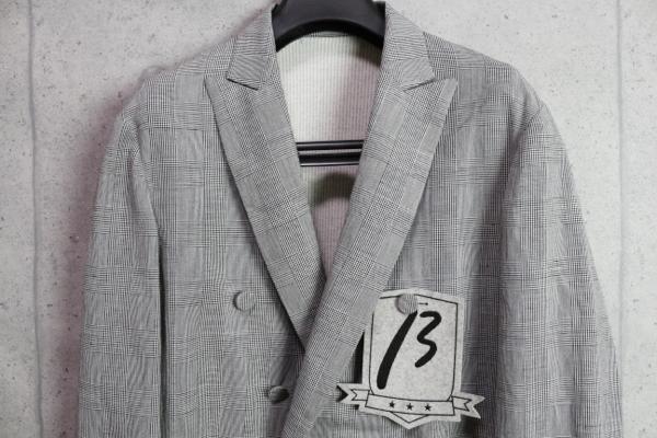 画像2: ベータ・メン/β MEN 春夏 リネンコットン グレンチェック ダブル ジャケット/綿/麻