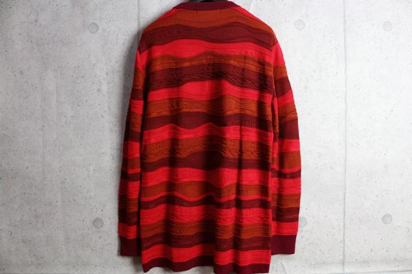 画像3: コムサメン中厚手ウール混 ニット ボーダー レイヤード立体デザイン セーター/COMME CA MEN