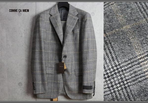 画像1: コムサメン『贅沢素材』カシミヤ混ウール ツイード チェルッティ生地フィボナッチ チェック New Classic スーツ/COMME CA MEN