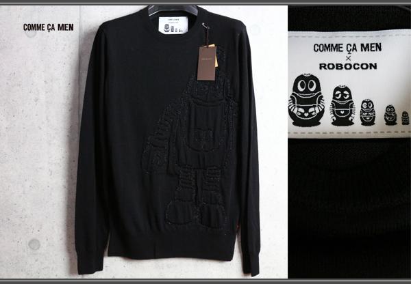 画像1: コムサメン『大人の遊び心』ロボコン コラボ ウール ジャガード セーター/COMME CA MEN