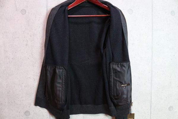 画像3: コムサメン秋冬ラムレザー コンビニット ボンディング ボンバージャケット ブルゾン/COMME CA MEN