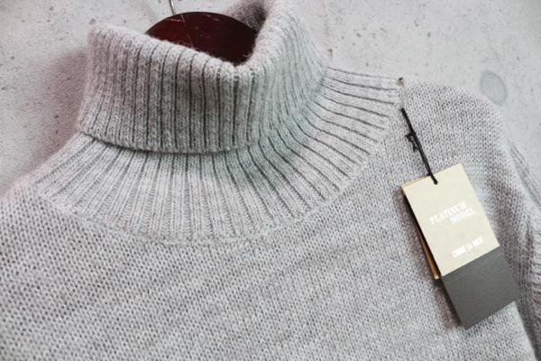 画像2: コムサメン プラチナモデル ミドルゲージ ウール100% タートルネック セーター/COMME CA MEN