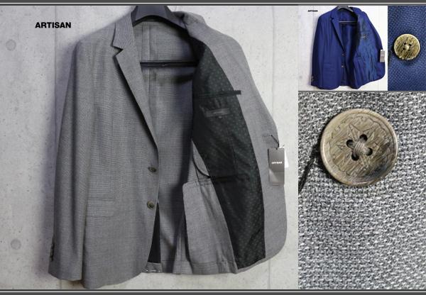 画像1: アルチザン 春夏 日本製 一重仕立て フレスコ メッシュ ジャケット/ARTISAN MEN