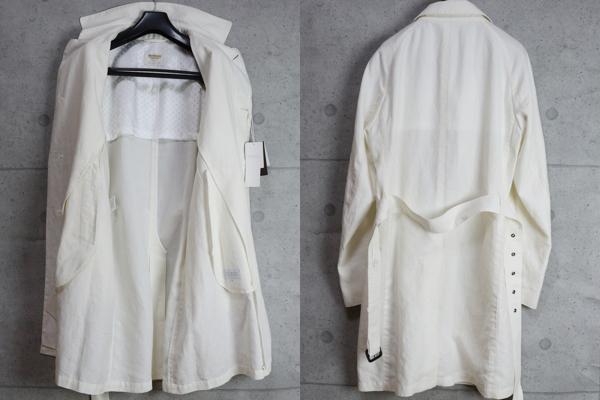 画像3: マッキントッシュ フィロソフィー 春夏 最高級リネン ハードマンズ トレンチ ステンカラー コート