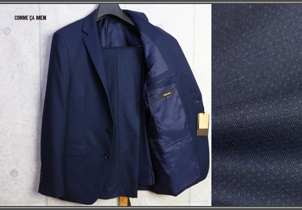 画像1: コムサメン 春夏 オーストラリア産 羊毛 SUPER100's ピンヘッド ドビー セットアップ スーツ /ジャケット/スラックス