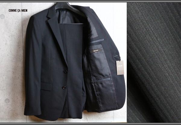 画像1: コムサメン 春夏 オーストラリア産 羊毛 SUPER100`S シャドーピンストライプ 背抜き仕立て スーツ/COMME CA MEN