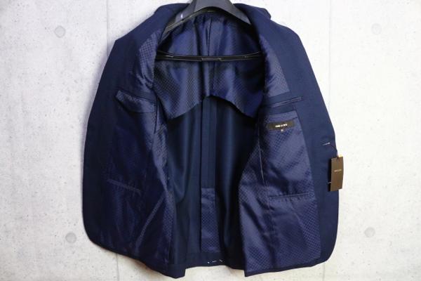 画像4: コムサメン 春夏 オーストラリア産 羊毛 SUPER100's ピンヘッド ドビー セットアップ スーツ /ジャケット/スラックス