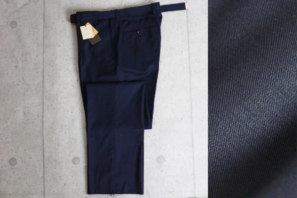 画像3: コムサメン プラチナモデル 春夏 Japan Made エミネント社製 艶感 ベルト付き シャイニー ギャバジン スラックス